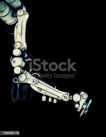 istock Cool medicine syringe tool 155346179
