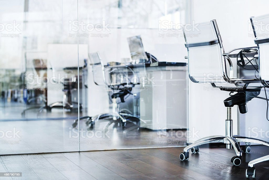 Cool Modern Office Cubes stock photo