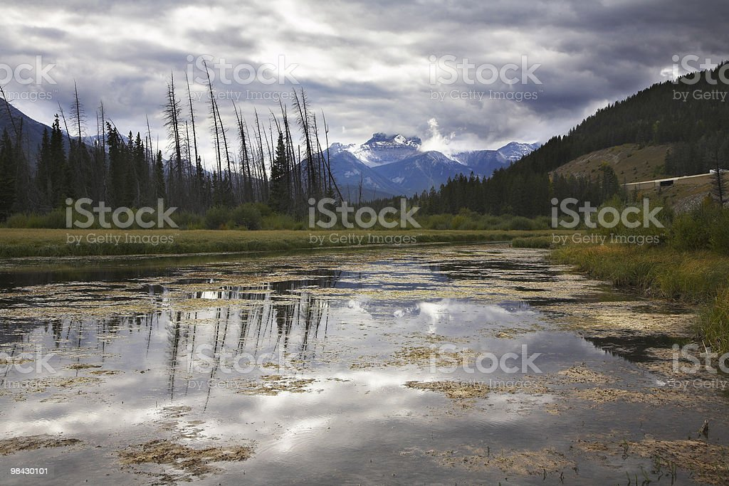 Cool morning in northern mountains royalty-free stock photo