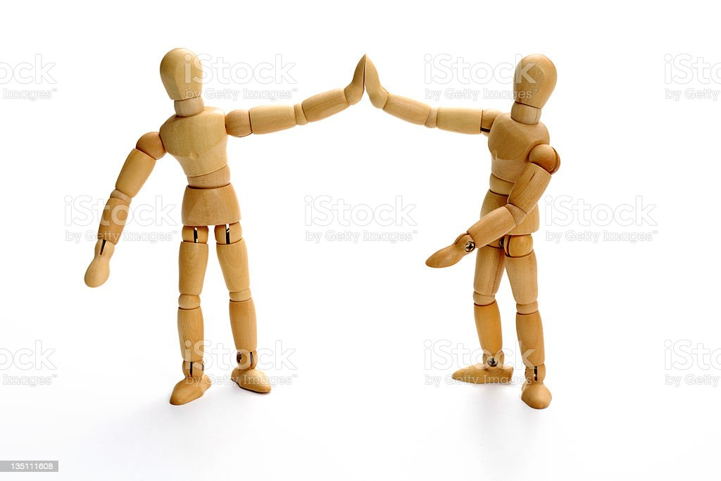 Cool - partners (serie of images) royalty-free stock photo