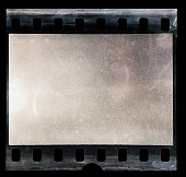 blank 35mm film material with empty cell or frame, macro photo, no scan, just blend in your work here