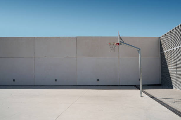 Cool place to play basketball at the street stock photo