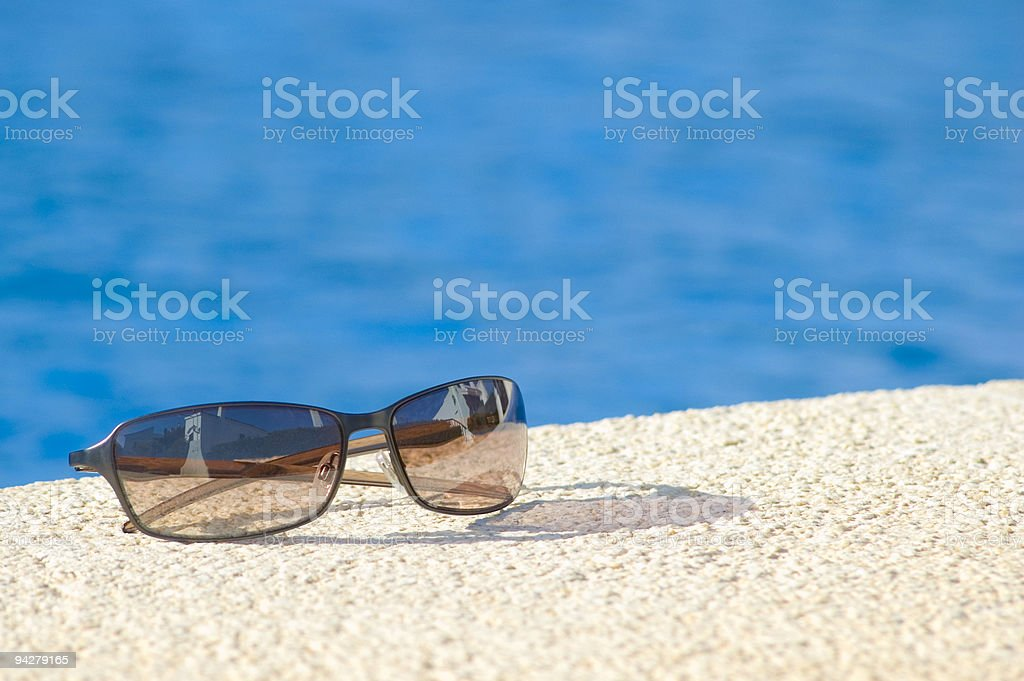 cool poolside shades stock photo