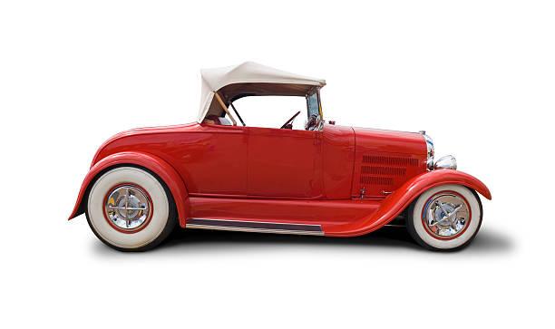 coole retro auto mit schneidepfaden - alten muscle cars stock-fotos und bilder