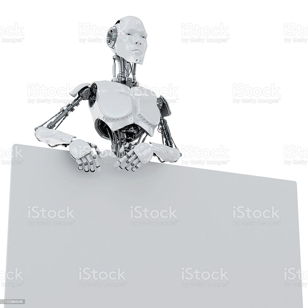 Cool robotic promoter royalty-free stock photo