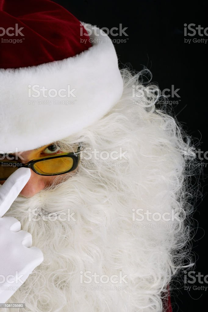 Cool Santa royalty-free stock photo