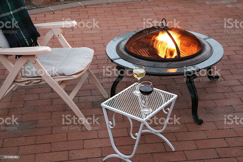 Cool Summer Evening On The Patio royalty-free stock photo