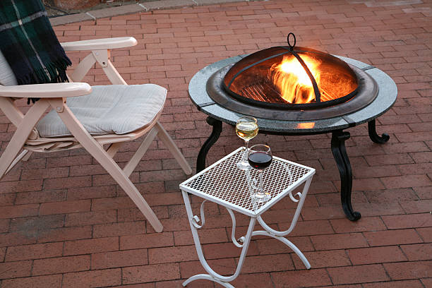 Cool Summer Evening On The Patio stock photo