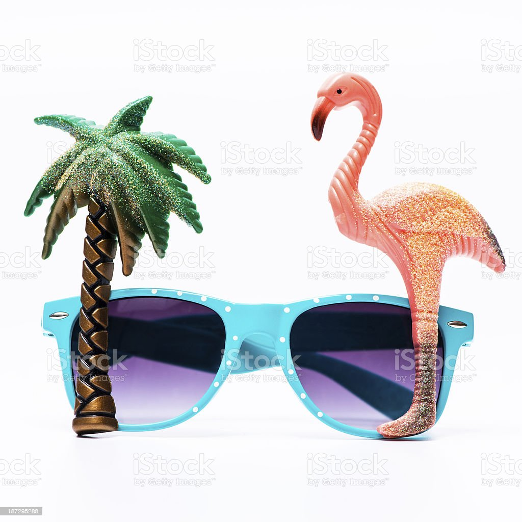 Cool sunglasses for summer holidays stock photo