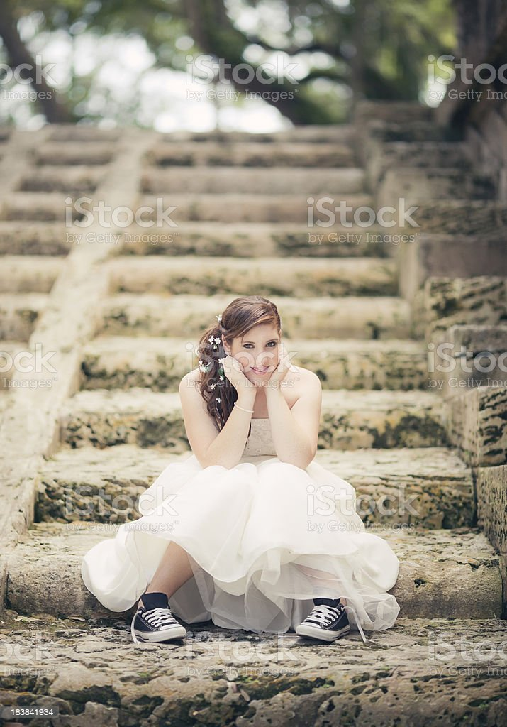 cool teen girl stock photo