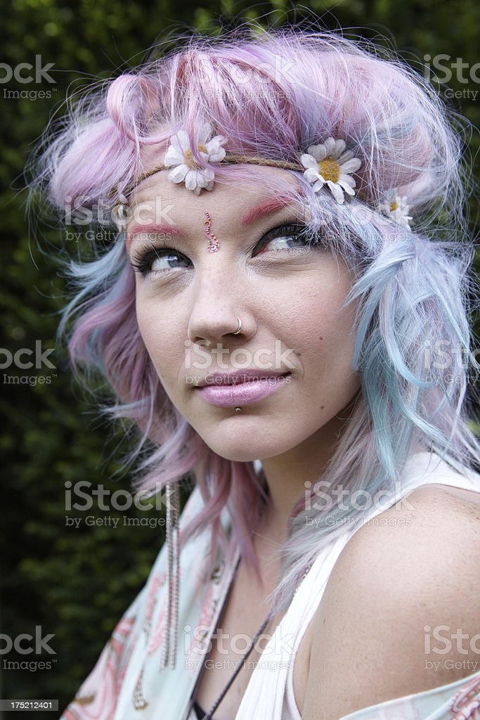 Cool thoughtful Hippy Teen royalty-free stock photo