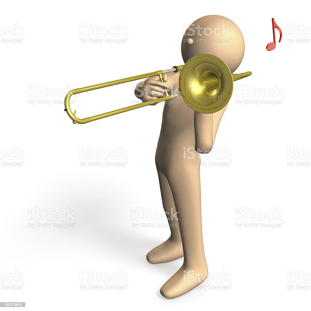 Cool trombonist royalty-free stock photo