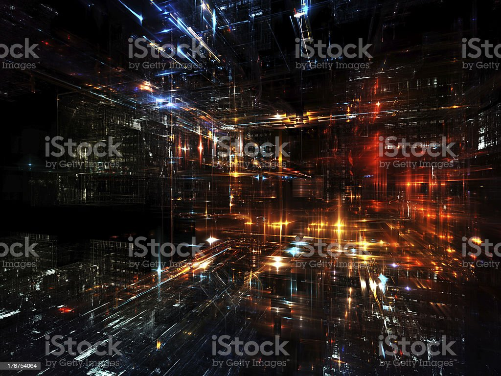 Cool Urban Abstraction royalty-free stock photo