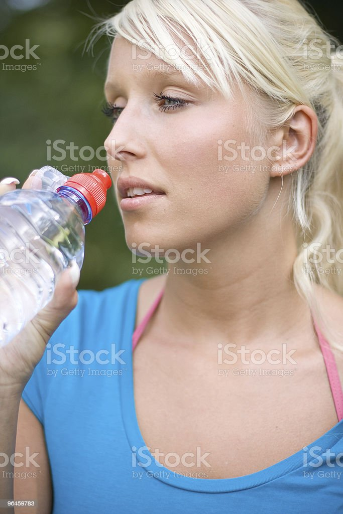 cool water after the long run royalty-free stock photo