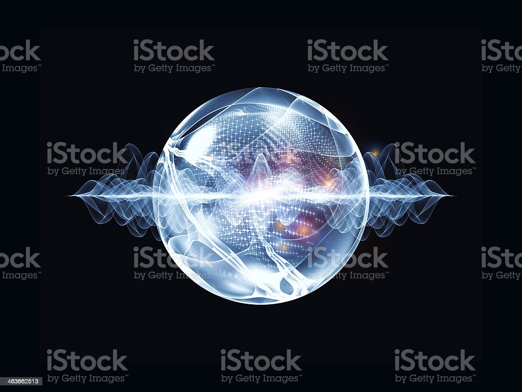 Cool Wave Particle stock photo