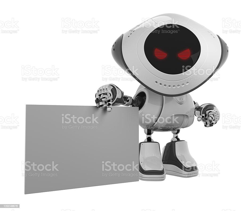 Cool white robotic promoter stock photo