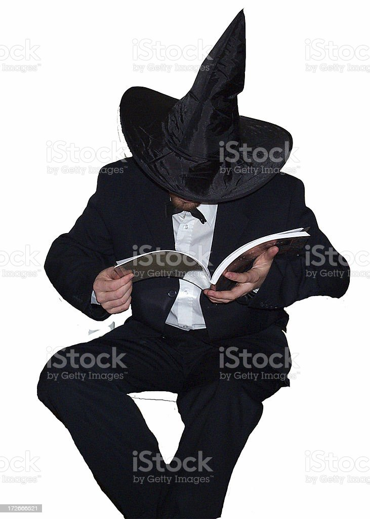Cool Wizard and Spell Book royalty-free stock photo