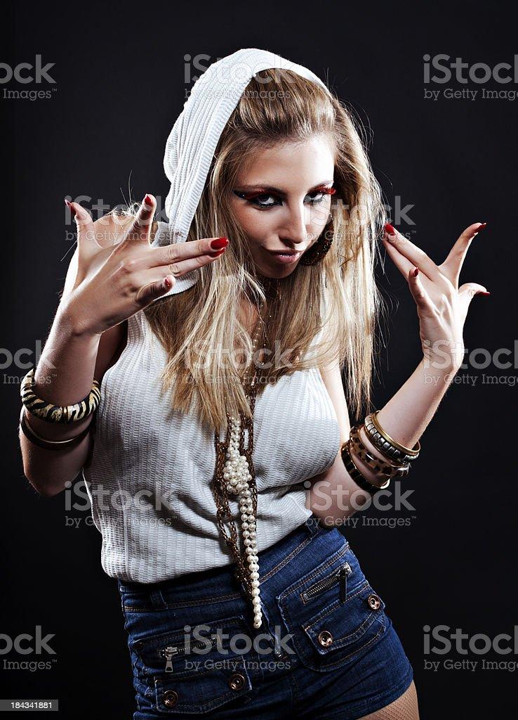 Cool Woman Posing royalty-free stock photo