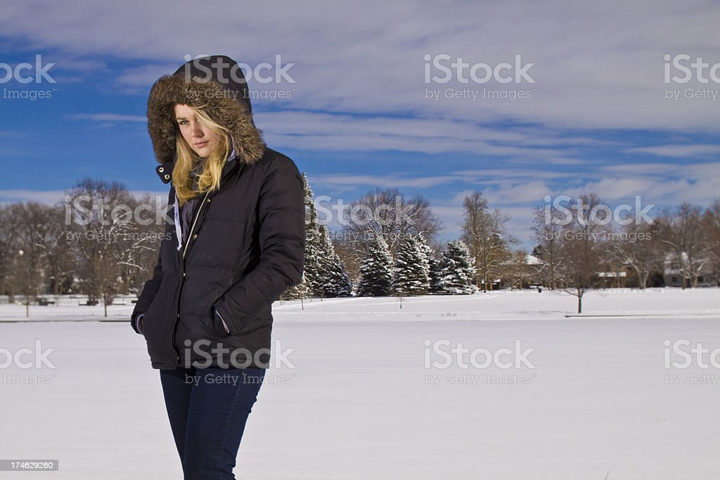 cool young woman royalty-free stock photo
