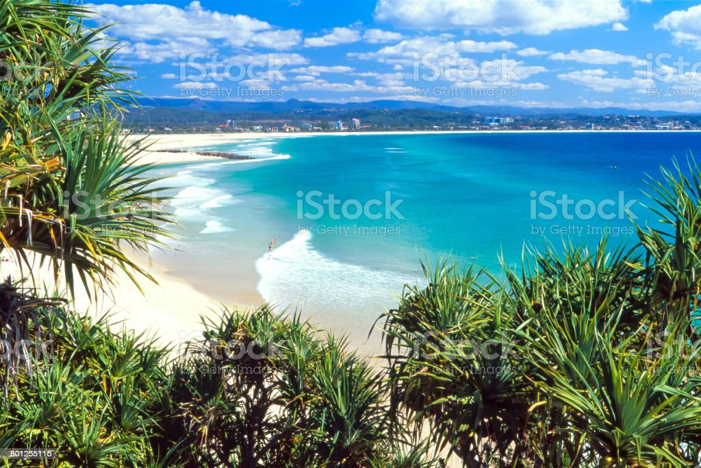 Coolangatta on a clear idyllic day on the Gold Coast, Australia stock photo