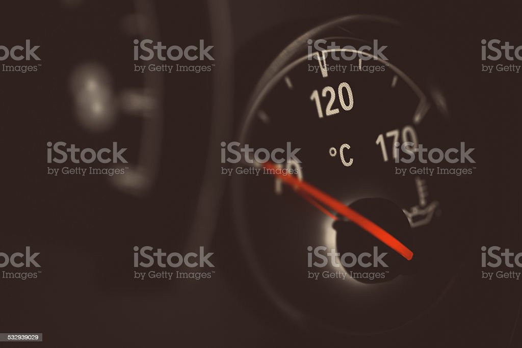 Coolant gauge stock photo