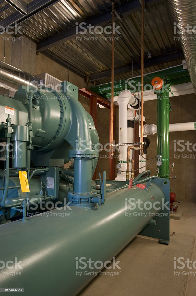 Coolant Pump System, HVAC Installation royalty-free stock photo