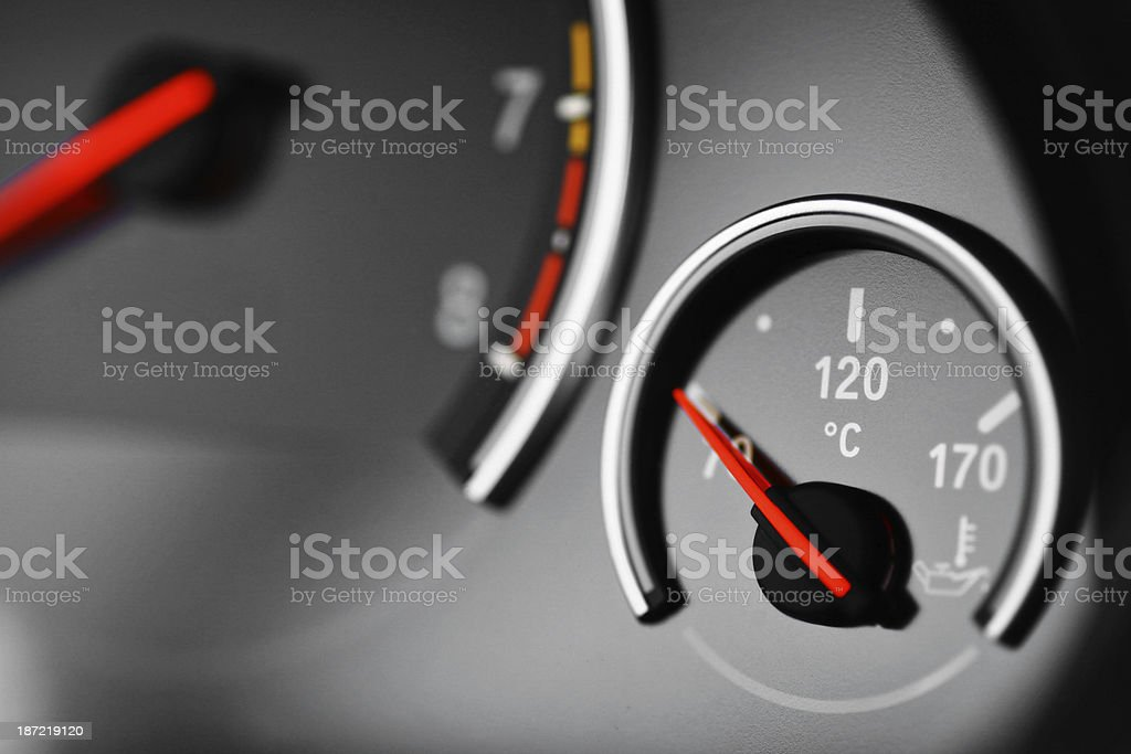 Coolant temperature gauge royalty-free stock photo
