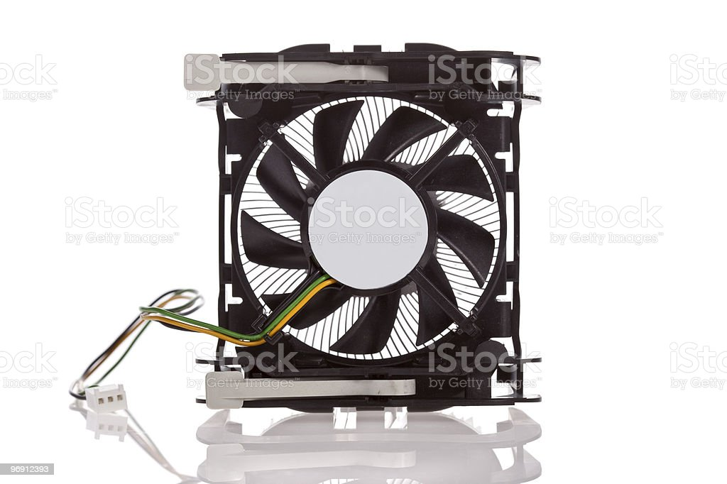 CPU Cooler isolated on  white royalty-free stock photo