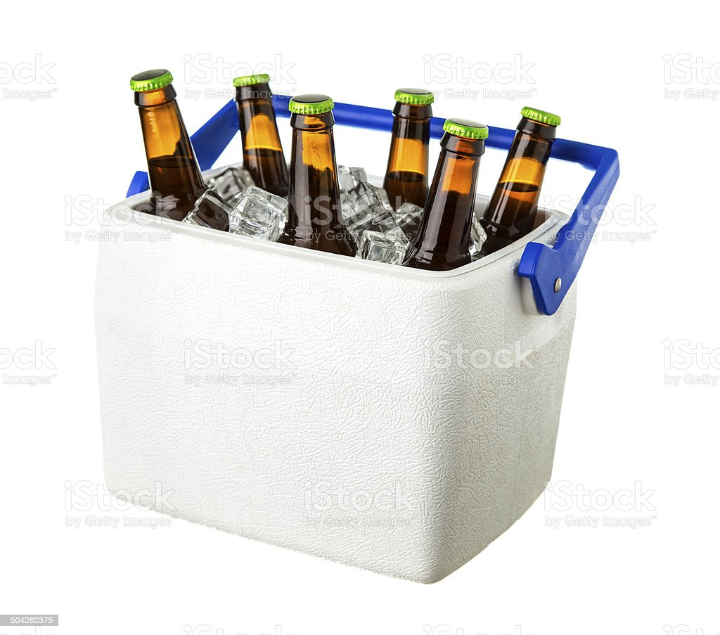 Cooler of Beers stock photo
