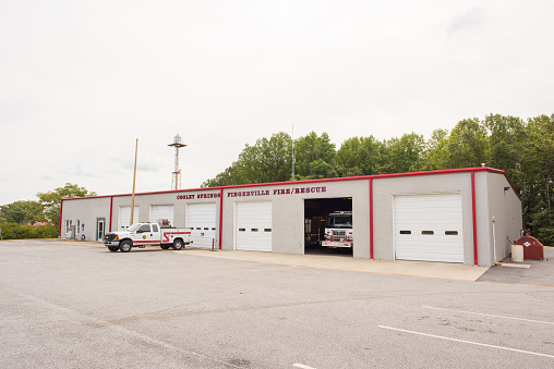 Cooley Springs Fire Department In Upstate South Carolina Stock Photo - Download Image Now