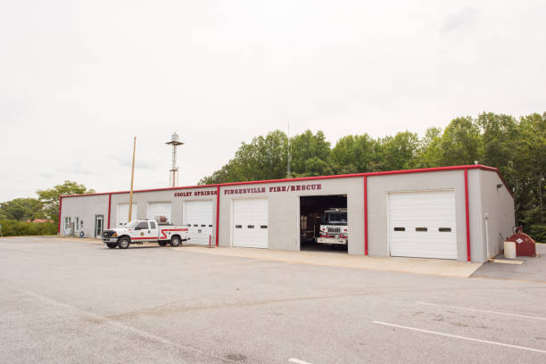 Cooley Springs fire department in upstate South Carolina Cooley Springs, South Carolina, Sept 10, 2017: The Cooley Springs and Fingerville Fire Department, located in rural, upstate South Carolina. apostate stock pictures, royalty-free photos & images