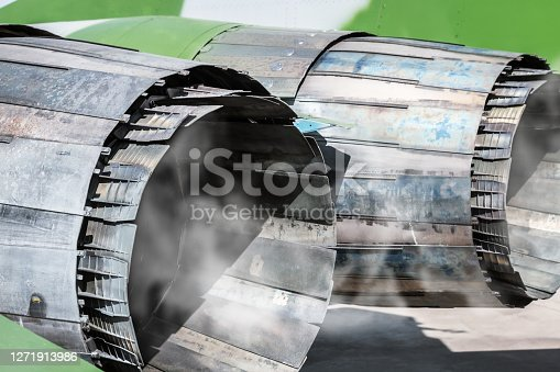 cooling down adjustable nozzles of the combat aircraft engine after the flight