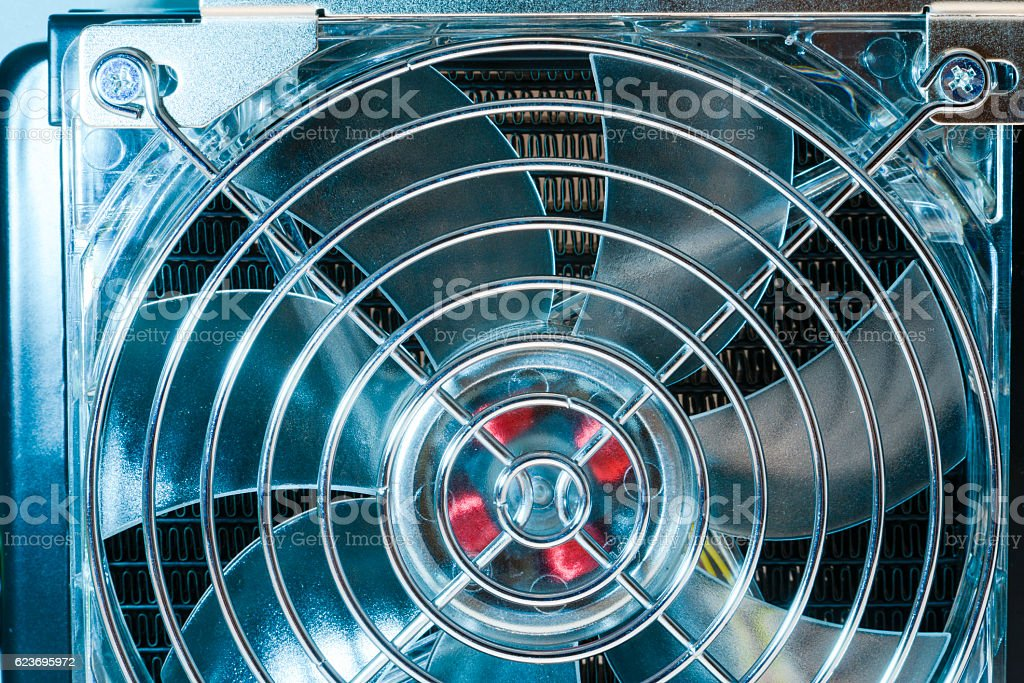 cooling fan fragment stock photo
