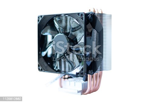 istock cooling fan system of computer on white background 1125812882