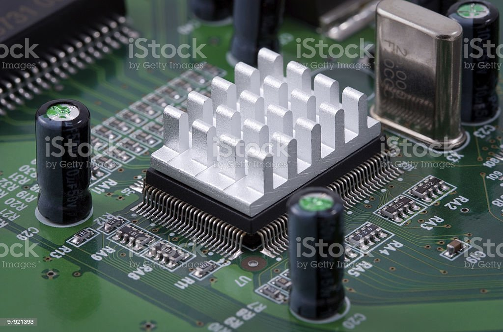 Cooling microchip royalty-free stock photo
