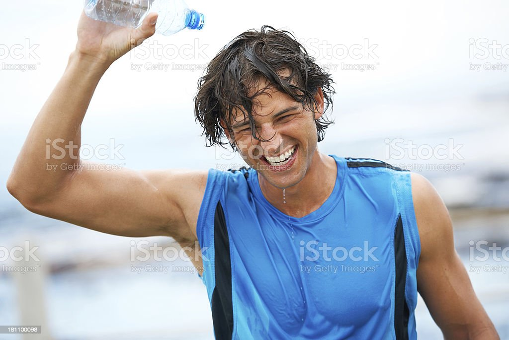 Cooling off after a hard workout royalty-free stock photo
