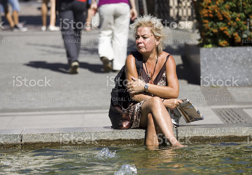 Cooling off in Prague royalty-free stock photo