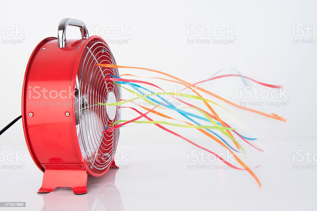 Cooling Summer Fan stock photo