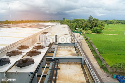 istock Cooling systems on top of the building - Compressor 847253066