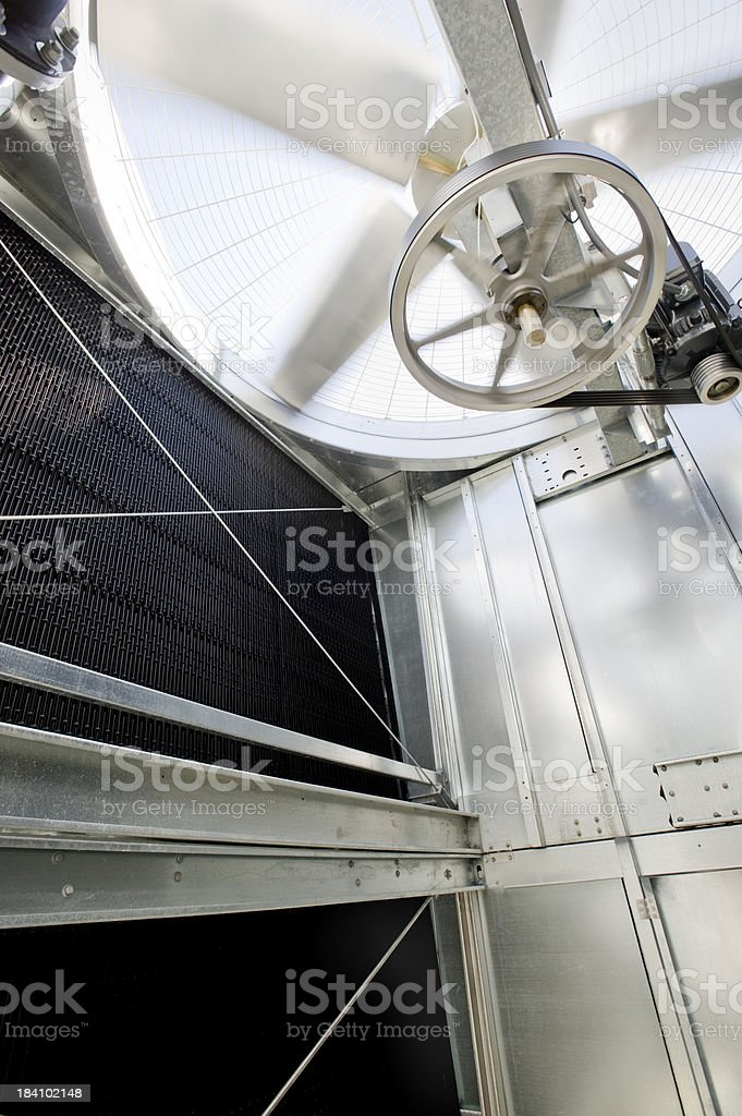Cooling Tower Interior, HVAC System royalty-free stock photo