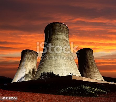 istock cooling tower - Nuclear power plant Dukovany 489175574