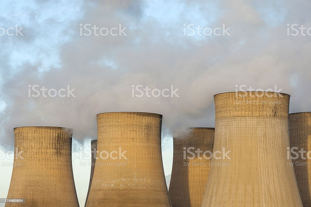 Cooling Towers, Power Station stock photo