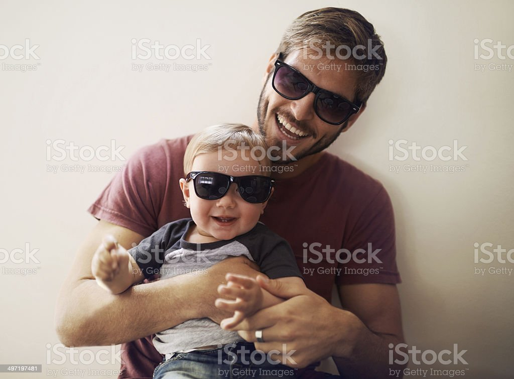 Coolness runs in this family! stock photo