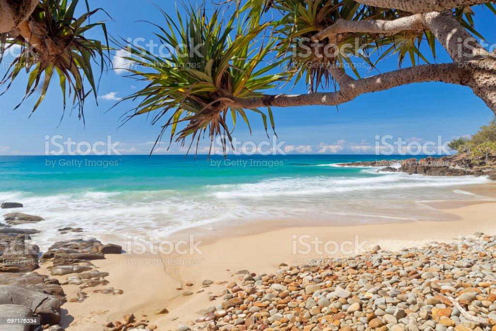 Coolum beach on Queensland's Sunshine Coast in Australia stock photo