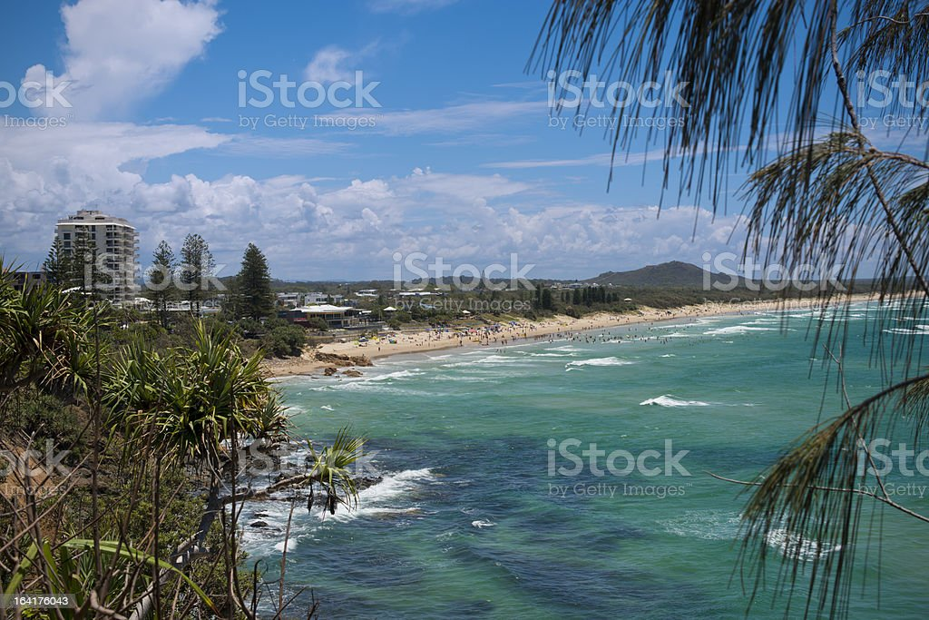 Coolum Beach Sunshine Coast Australia stock photo