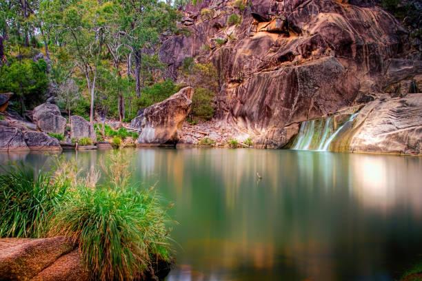 Coomba Falls in Queensland stock photo