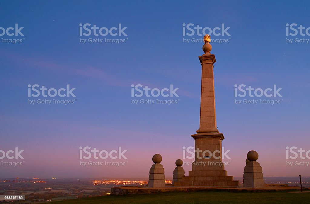 Coombe Hill War Memorial In The Chiltern Hills stock photo