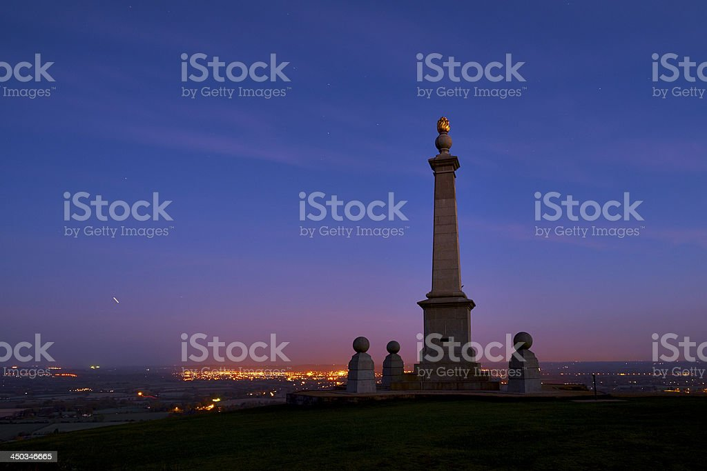 Coombe Hill War Memorial stock photo
