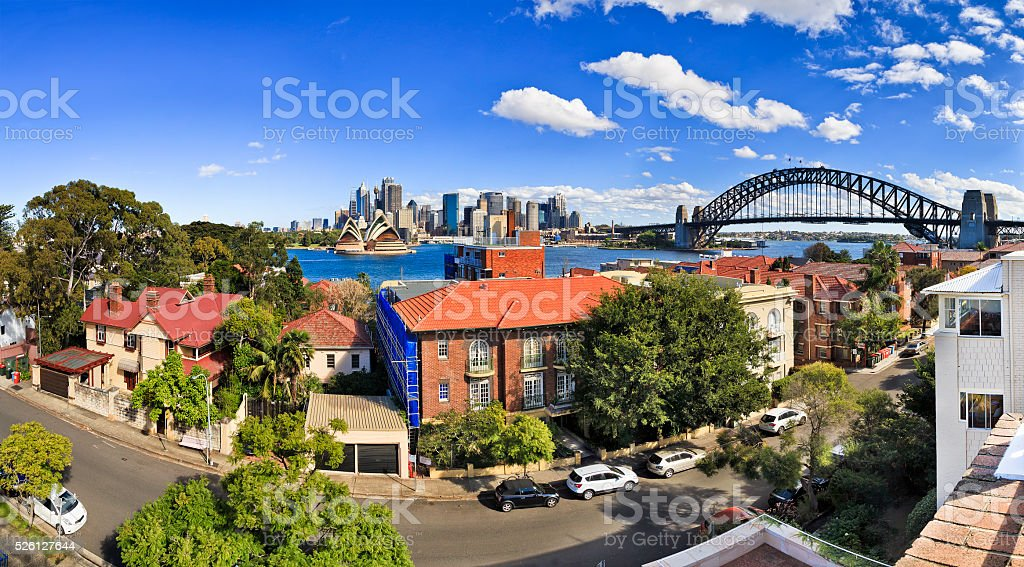 SY CBD Coombs Day panorama stock photo