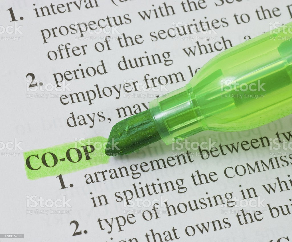 coop highligted in dictionary royalty-free stock photo